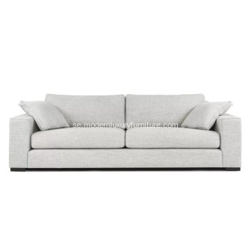 Modern Contemporary Sitka Mist Gray Fabric Soffa