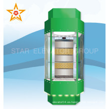 China Elevador de elevación de cristal panorámico seguro y estable (impulsión de VVVF)