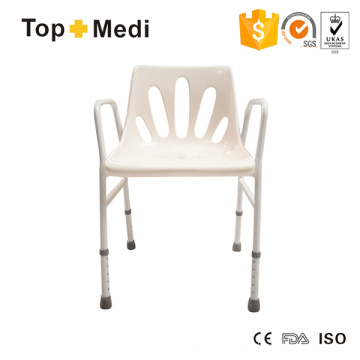 Topmedi Günstige Preis Aluminium Dusche Sitzstuhl mit Rückenlehne für Badezimmer
