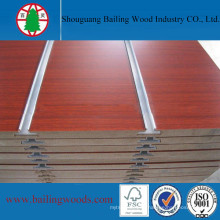 High Quality Melamine Groove/Slot MDF for Supermarket