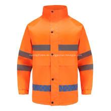 Hochsichtbare reflektierende Arbeitskleidung mit unsichtbarem Reißverschluss