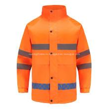 Светоотражающая рабочая одежда повышенной видимости с невидимой молнией