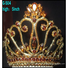 Bijoux en argent de mariage Tiara princesse Tiara Grande couronne de tiare personnalisée