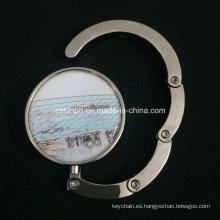 Colgador de Bolsa regular de níquel con Custom Offset insignia de la impresión para la promoción de publicidad
