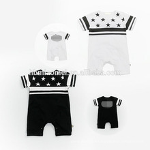 2017 venta al por mayor impreso bebé del bebé del mameluco de la ropa del diseño del sistema fijó 4pcs por sistema