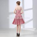2018 new design Bride dress sweet heart lady dinner dress short design laced sequins evening dress for bride