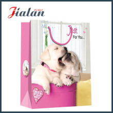 Diseño animal Cute Dog Cheap Impreso Personalizar Bolsa de papel impermeable
