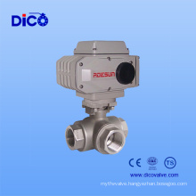 Electric Stainless Steel 3 Way Ball Valve with NPT Thread