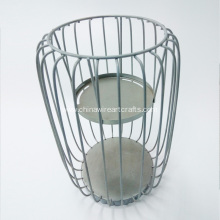 Table Decorative Steel Wire Metal Candle Stand