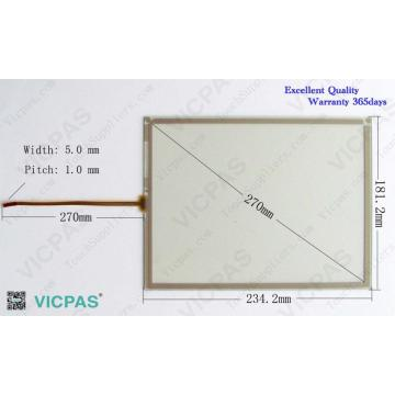 AMT 2837 AMT2837 Touch screen panel glass for MP277-10 repair