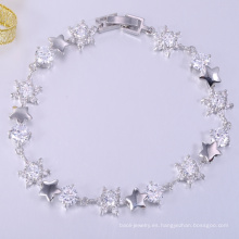 Venta caliente amor AAA piedra afortunada de pulseras de bronce joyas