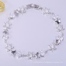 Vente chaude amour chanceux AAA pierre de bijoux bracelets en laiton