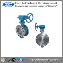 Drenaje industria del agua gusano de engranaje brida válvula de mariposa D343H-16C
