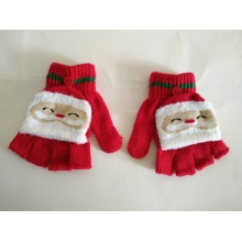 Red  Christmas Knitted Gloves