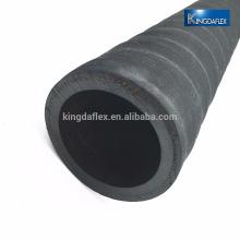 manguera flexible de succión de agua de goma plana / corrugada de 5 pulgadas