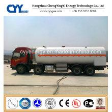 30cbm Lox; Lin; LNG Cryogenic Semi Trailer mit ASME GB Standards