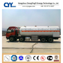 30cbm Lox; Lin; LNG Cryogenic Semi Trailer with ASME GB Standards
