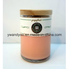 Vela perfumada de presente de cera de soja