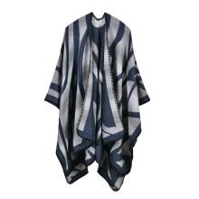 2017 Top vendedor nueva llegada mezcla colores mujeres invierno poncho bufanda