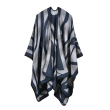 2017 Top seller new arrival mix cores mulheres inverno poncho cachecol