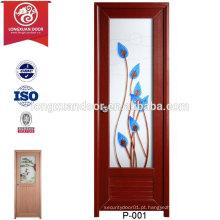 Porta de toalete de PVC de fibra de vidro personalizada com / sem vidro fosco