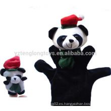 Juguetes de peluche de dibujos animados de la mano de la marioneta y el juguete conjunto de marionetas dedo