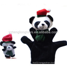 Plush animal cartoon hand puppet and finger puppet set toy