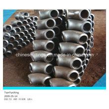 Raccords de tuyaux sans soudure Rayons longs à 90 degrés Coulis en acier doux