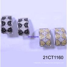 Серебра кубического циркония серьги ювелирные изделия (21CT 1160)