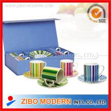Copa de cerámica con platillo