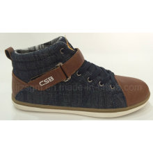 Conforto alto Top Washed Denim Casual Shoes
