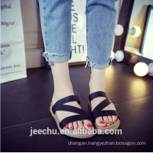 Ladies home indoor and outdoor hollow Roman cool slippers 2017 fashion design