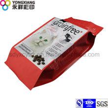 Größe Kundenspezifische Tierfutter 4-seitige Abdichtung Kunststoff Verpackungsbeutel