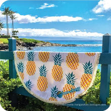 Hot sale custom pineapple pattern Round Beach Towel RBT-185