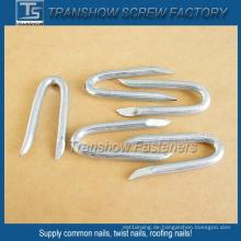 65mn Stahl galvanisierte U geformte Nägel