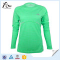 Long Sleeve Shirts 100% Polyester Gym Shirts