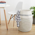 Tall Cotton Rope Laundry Basket Woven Cotton Rope Dirty Clothes Storage Hamper
