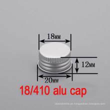 18mm Alumínio plástico Screw garrafa Round Hat / Cap