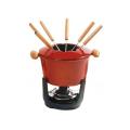 Enamel Gusseisen Fondue Set für Kochgeschirr
