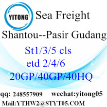 Internationale Shiping van Shantou naar Pasir Gudang
