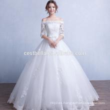 Nuevo vestido de boda elegante 2016 Vestido de bola hinchado de Tulle elegante Vestidos de boda blancos