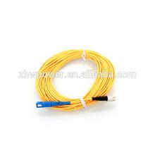 Cabo de remendo da fibra óptica 50pcs / lot, SC-FC 3.0m, cabo single-mode único do cabo de ligação da fibra óptica do ponteiro da fibra 3.0mm