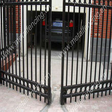 deslizamento de projetos de portão principal de ferro forjado