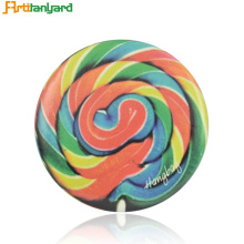 Sublimation Glitter Rainbow Round Pis Button Badge