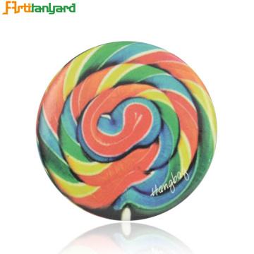 Sublimation Glitter Rainbow Round Pis Button Badge