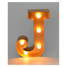 Letra LED de plástico para decoração de Natal