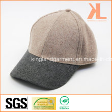 Polyester & Wool Quality Warm Plain Pink & Gray Baseball Cap