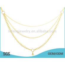 Bangkok Schmuck Doppel-Gold Ketten Halskette, Jeans-Ketten für Männer