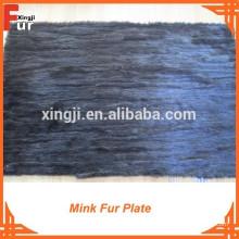 Placa de chatarra de visón marrón oscuro placa de piel de visón