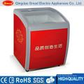 500/700L big capacity supermarket sale top open door deep type display deep chest freezer